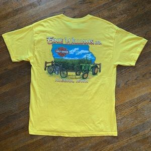 Harley-Davidson Farm Graphic Yellow Shirt Size L
